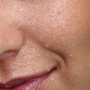 sweaty face w smile